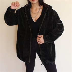 Vintage unisex 90s collection oldschool fitilli kadife mont